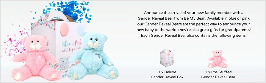 Pre-Stuffed Gender Reveal Bears