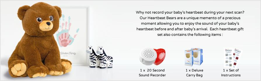 Pre-Stuffed Heartbeat Bears