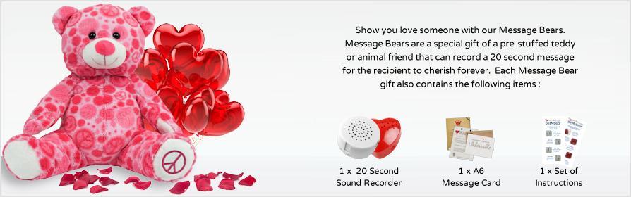 Pre-Stuffed Message Bears