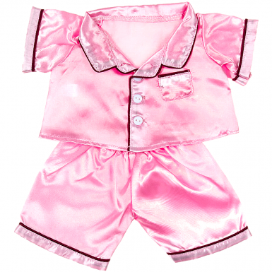 """Pink Satin PJ's 16"""" Outfit"""