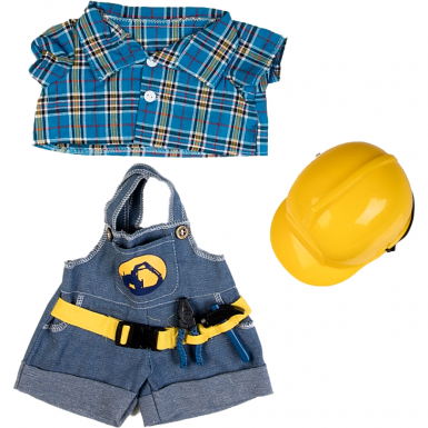 """Construction Worker 16"""" Teddy Bear Clothes"""