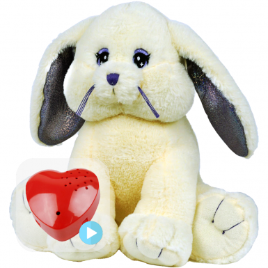 "Cottontail Rabbit 16"" Baby Heartbeat Bear"