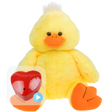 "Daffy Duck 16"" Baby Heartbeat Bear"