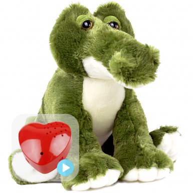 "Snappy Croc 16"" Baby Heartbeat Bear"