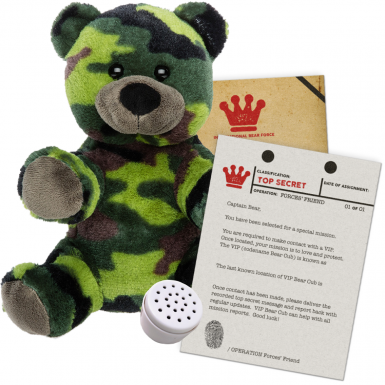 "Forces' Friend 8"" Message Bear"