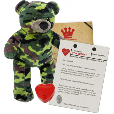 "Forces' Sweetheart 16"" Message Bear"