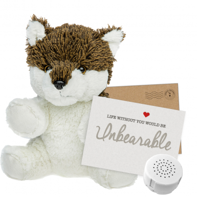 """Wiley Wolf 8"""" Message Bear"""