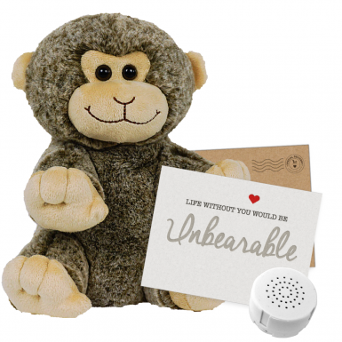 "Monkey 8"" Message Bear"