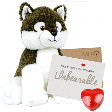 "Wiley Wolf 16"" Message Bear"