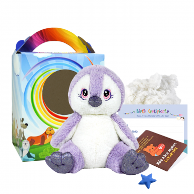 "Purple Penguin 8"" Travel Ted"