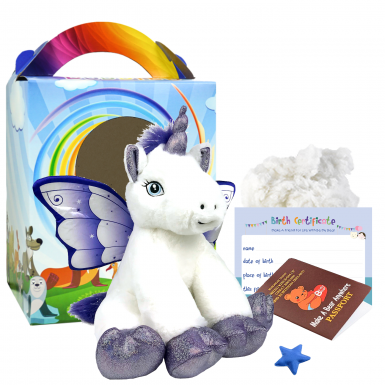"Crystal Unicorn 16"" Travel Ted"