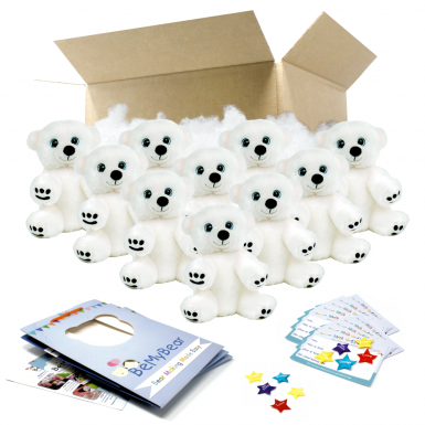 "Snowy Polar Bear 8"" Party Pack"
