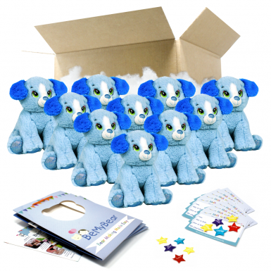 """Blue Puppy 8"""" Party Pack"""