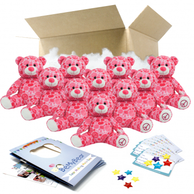 """Peace and Love Bear 16"""" Party Pack"""