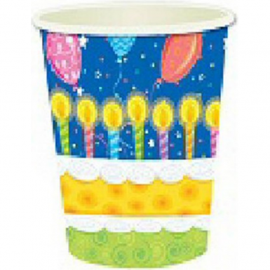 8 x Birthday Cake Cups Partywear