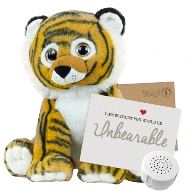 "Bruno Tiger 16"" Message Bear"