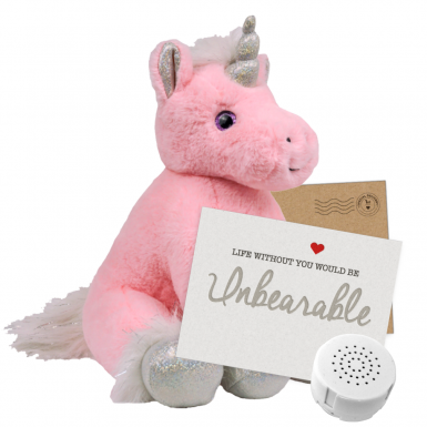 "Magic Unicorn 16"" Message Bear"