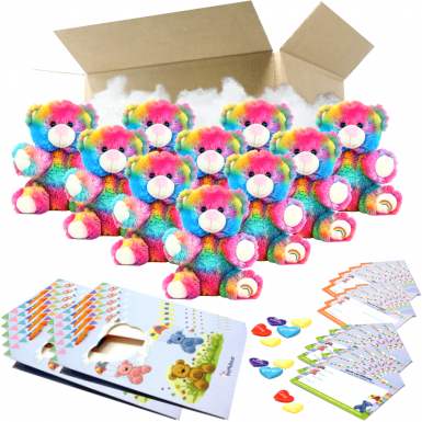"""Rainbow Drop 8"""" Party Pack"""