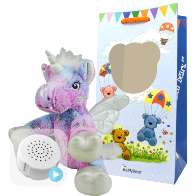 "Stardust Unicorn 8"" Baby Heartbeat Bear"