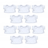 "10 Pack of 16"" White T-Shirts"