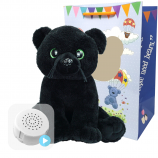 "Black Panther 16"" Baby Heartbeat Bear"