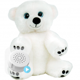 "Snowy Polar Bear 8"" Baby Heartbeat Bear"