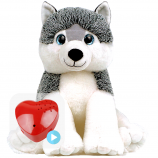 "Husky Dog 16"" Baby Heartbeat Bear"
