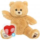 "Scruffy Bear 16"" Baby Heartbeat Bear"