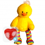 "Striped Duck 16"" Baby Heartbeat Bear"