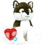 "Wiley Wolf 16"" Baby Heartbeat Bear"