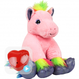 "Princess the Pink Pony 16"" Baby Heartbeat Bear"
