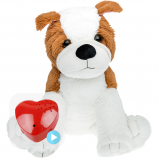 "Bulldog 16"" Baby Heartbeat Bear"