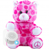 "Peace and Love 8"" Baby Heartbeat Bear"