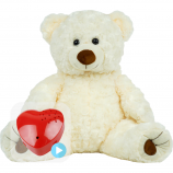"White Twist 16"" Baby Heartbeat Bear"