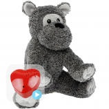 "Terry Terrier 16"" Baby Heartbeat Bear"