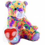 "Crazy Cat 16"" Baby Heartbeat Bear"