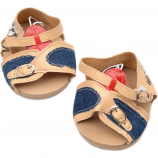 "Tan & Denim 16"" Sandals"