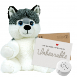 "Huey Husky 8"" Message Bear"