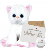 "Katie Kitty 8"" Message Bear"