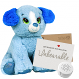 "Blue Puppy 8"" Message Bear"