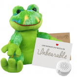 """Funky Frog 8"""" Message Bear"""