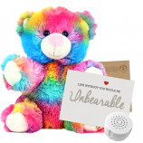 "Rainbow Drop 8"" Message Bear"