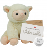 "Little Lamb 8"" Message Bear"