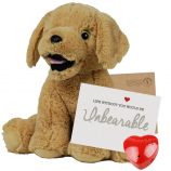 "Parsnip Pup 16"" Message Bear"