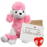 "Posh Poodle 16"" Message Bear"