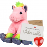 "Pretty Pink Pony 8"" Message Bear"
