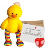 "Striped Duck 16"" Message Bear"