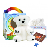 "Snowy Polar Bear 8"" Travel Ted"