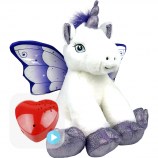 "Crystal Unicorn 16"" Baby Heartbeat Bear"