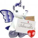 "Crystal Unicorn 16"" Message Bear"